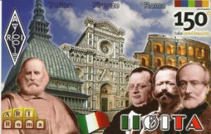 QSL commemorativa del 150° dell'Unità d'Italia