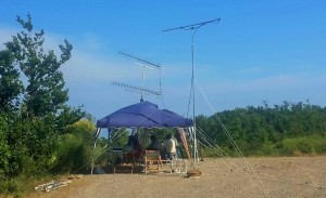 I due gazebo e le antenne