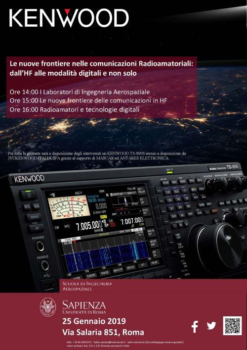 Presentazione Kenwood TS-890S ai laboratori de La Sapienza | ARI